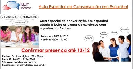 Aula de conversação - Espanhol
